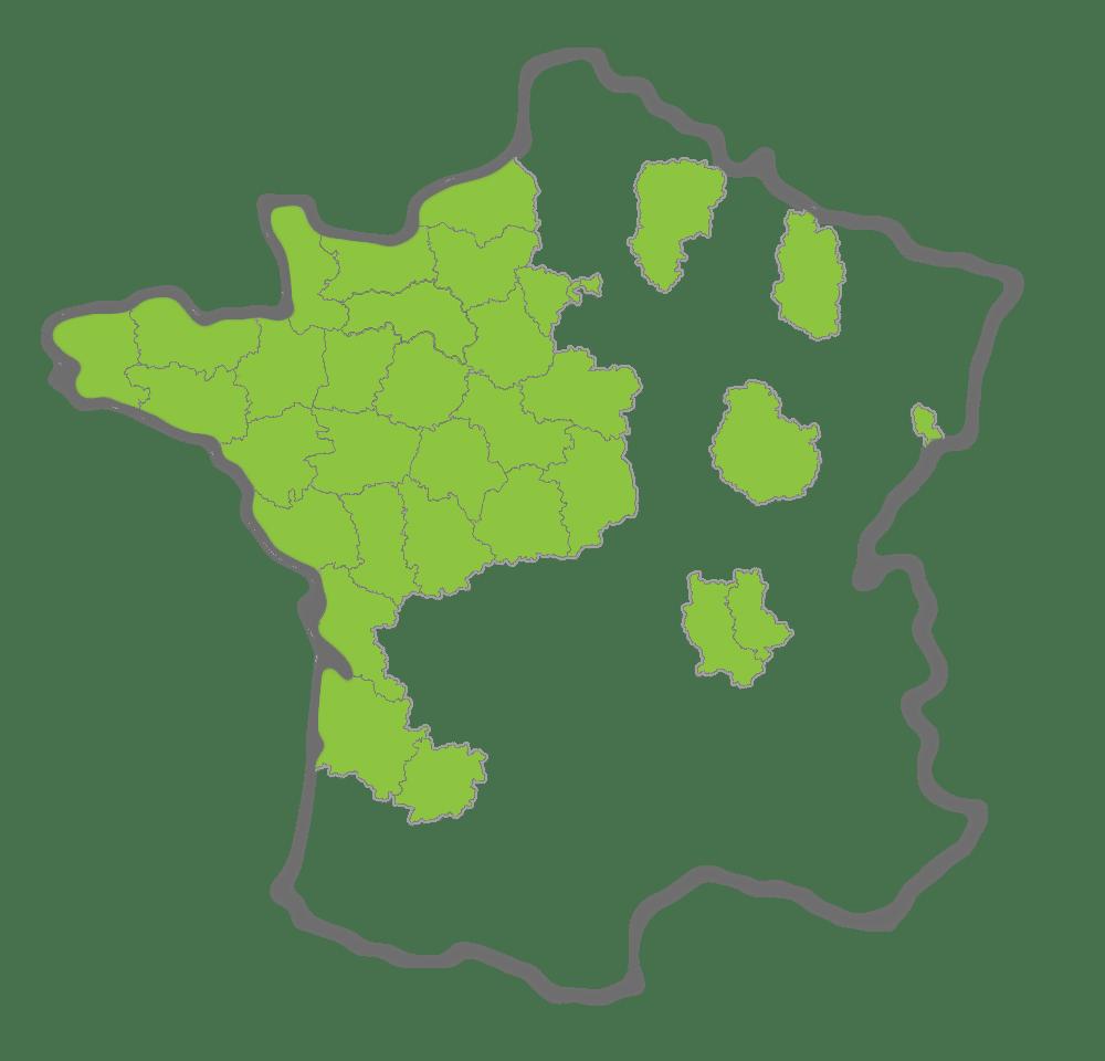 carte des départements couverts par ACE²